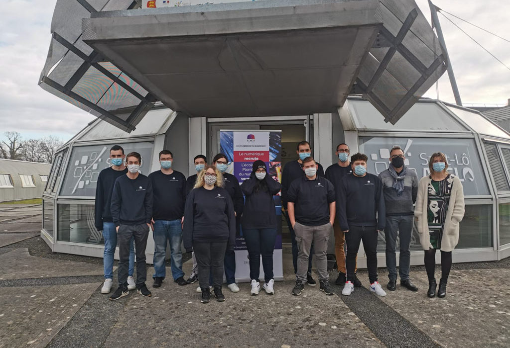 jeunes de la 1ere promotion de monteur-raccordeur fibre optique de Saint-Lô